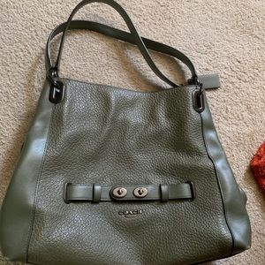 Coach purse army green